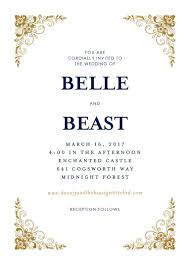 and the beast wedding invitations and the beast s wedding invitation would definitely look