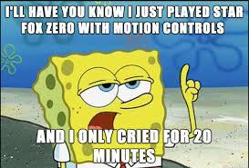 Star Fox Meme - spongebob s experience with star fox zero meme on imgur