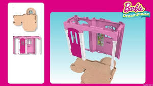 Barbie Dining Room Set Barbie Dreamhouse Playset With 70 Accessory Pieces Walmart Com