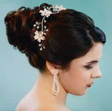 flower headpiece blush flower rhinestone bridal headpiece comb