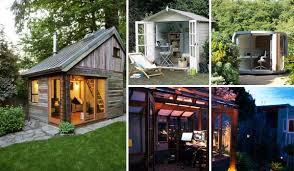 Building Backyard Shed Backyard Shed Office You Would Love To Go To Work Amazing Diy