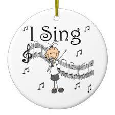 singing ornaments keepsake ornaments zazzle