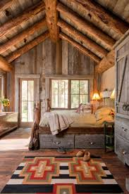 Rustic Bedroom Wall Ideas Rustic Chic Bedroom Design Light Blue Stained Wall Impressive