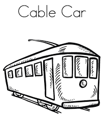 transportation colouring pages free printable cable car coloring