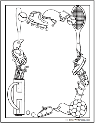121 sports coloring sheets customize and print pdf