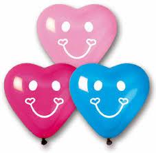 heart balloons smiley printed heart balloons