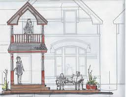 house porch drawing potter highlands historic renovation porch addition arcwest