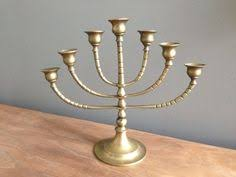 antique menorah 7 candle antique menorah in solid brass by priddeythings