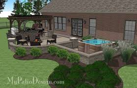 Backyard Brick Patio Design With 12 X 12 Pergola Grill Station by 156 Best Straight House Designs Images On Pinterest Patio Design