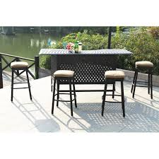 bar stools for outdoor patios darlee classic cast aluminum square backless patio counter height