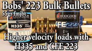 bobs u0027 223 bulk bullets higher velocity this time youtube