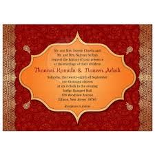 wedding invitation crimson indian paisley golden gilded edge