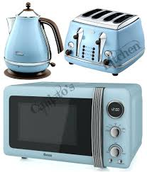Toasters Delonghi All Stainless Steel Kettle Blue Microwave Kettle And Toaster Set