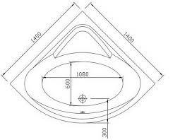 inch corner bath integral apron removable access panel 1400mm