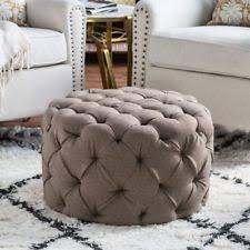 round ottoman ebay