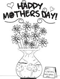free printable mother u0027s day flowers coloring page for kids
