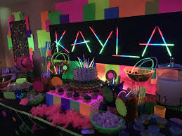 glow in the party decorations best 25 neon party ideas on diy blacklight party
