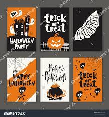 vector set six cartoon style halloween stock vector 482981656