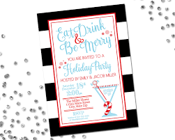 eat drink be merry holiday party invitation holiday cocktail