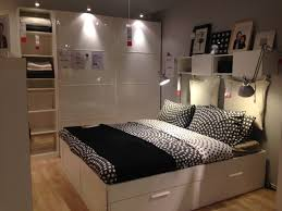 bedroom full size white modern stained solid wood storage bed