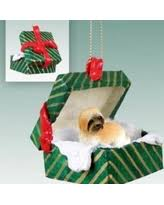 sale lhasa apso brown w sport cut gift box ornament
