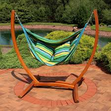 Chair Hammock With Stand Sunnydaze Hanging Hammock Chair Swing With Sturdy Space Saving