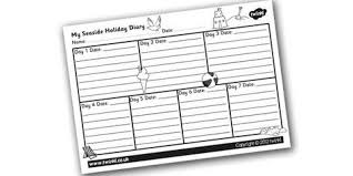 holiday diary template ks2 template design