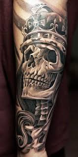 Amazing Skull - amazing skull in a crown tattoos book