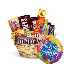 balloons and chocolate delivery happy birthday candy basket balloon at send flowers