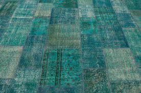 k0008015 turquoise over dyed turkish patchwork rug kilim rugs