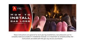 Fireplace Installation Instructions by How To Install Gas Fireplace Logs