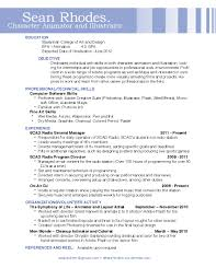 umich resume builder video game animator cover letter animation cover letter