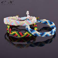 weave bracelet images 2018 adjustable shades nylon cotton friendship bracelet hand woven jpg