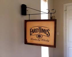 bourbon sign vintage bourbon sign etsy