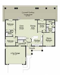 ranch style house plan 4 beds 2 00 baths 1863 sq ft plan 18 9543