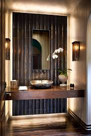 cozy ideas of contemporary powder room design come with stacked