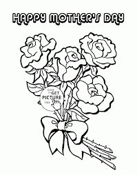 roses for mom mother u0027s day coloring page for kids coloring