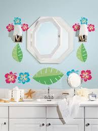 bathroom nice kids bathroom sets ideas featuring floral wallpaper