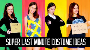 homemade halloween costumes for adults extremely last minute diy halloween costume ideas easy u0026fast youtube