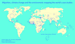 Map The World by Maps Environmental Migration Portal