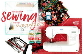 national sewing month sweepstakes we are celebrating national