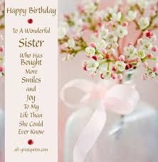 free birthday cards for a sister facebook happy birthday sister