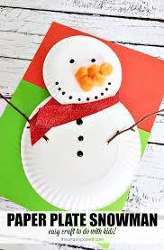 celebrate plate preschool paper plate snowman craft to celebrate winter