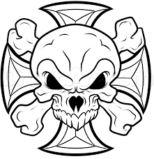 coloring pages tribal skull paintings