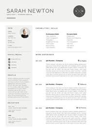 resume template cv template with modern design templates