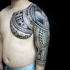 collection of 25 fresh polynesian muscles and chest tattoos for