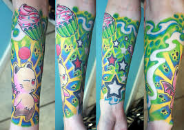 sleeve in colors by gettattoo on deviantart gaming tattoos