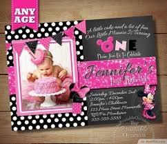 design lovely personalized minnie mouse first birthday