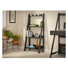 Small Ladder Bookcase by Preferential Iron Planter Placed On Beige Pile Carpet For Black