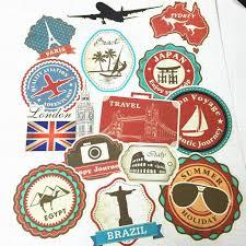 travel stickers images Wholesale waterproof removable car sticker world traveller vintage jpg